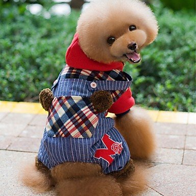 Y-Hui Hund Hoodie Kleider/Overalls Hund Kleidung Winter Frühling/Herbst Plaid/Holiday Check (Green Hose Check)