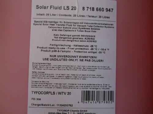 SOLAR FLUID FROST PROTECCION SOLAR LIQUIDO TYFOCOR LS 20LITROS TERMICA PORTADOR DE LIQUIDO