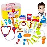 Arzt Spielen Set Pretend Spielen Spielzeug Rolle Spielen Medical Kit mit Zufällige Farbe 30 STÜCKE Medizinische Werkzeug Spielzeug Perfekt für Kinder, Kleinkinder & Kinder