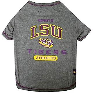 LSU Tigers NCAA Dog Pet Tee T-Shirt (Large)