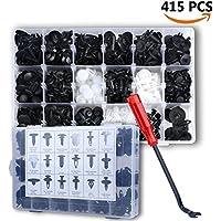 415 Stücke Befestigung Clips Türverkleidung Universal Klammern Stoßstangen Befestigung Clips Set mit 22.5cm Lösewerkzeug