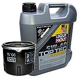 LIQUI MOLY Top Tec 4100 5W-40 3701 + MANN FILTER Ölfilter W 66