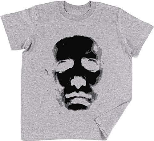 (Halloween Maske Kinder Jungen Mädchen Unisex T-Shirt Grau)