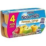 Nestlé naturnes compote de pommes coings 4 x 130g dès 4/6 mois - ( Prix Unitaire ) - Envoi Rapide Et Soignée