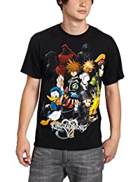 Disney Men's Kingdom Hearts Hearts Group T-Shirt