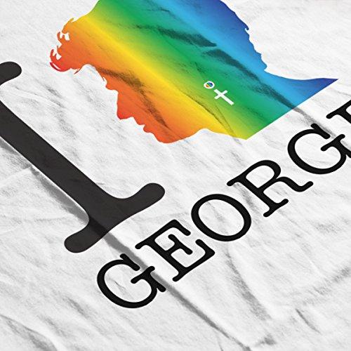 I Heart George Michael Rainbow Women's Vest White