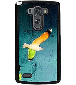 ColourCraft Beautiful Bird Design Back Case Cover for LG G3