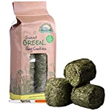Nature's Own Sweet Green Hay Hard Cookies Pet Food Dust Extracted Animal Feed & Tigerbox Antibacterial Pen (2 Packs)