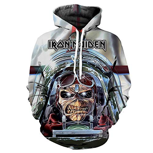 Unisex Iron Maiden Sudaderas Trendy Handsome Spring and Autumn - Cuello Redondo, Manga Larga, Jersey para Hombre. Iron Maiden Sudaderas con Capucha (Color : A11, Size : XXXL)