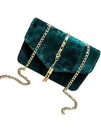 faedd6baf95cb SODIAL Damen Flap Clutch Abend Handtasche Quaste Umschlag Ketten Damen  Taschen