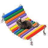 BulzEU Parrot di Legno Swing Pet Uccello Topo Mouse Hamster Amaca Giocare Giocattoli per Piccoli Animali Colorate