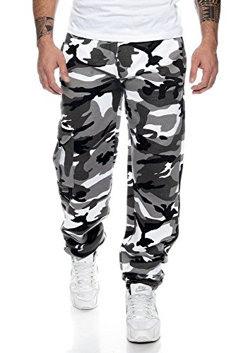 XE3 Game Cargo Jogginghose Fleece Sweatpant Fitness urban camo Gr. XXXL