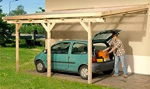 anlehncarport carport eifel iii 300x500 cm bausatz dacheindeckung anlehn carport auto. Black Bedroom Furniture Sets. Home Design Ideas