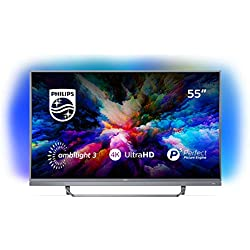 "Philips 55PUS7503 Smart TV UHD 4K (3840 x 2160 px), da 55"", Android, Ultra Slim, Ambilight, anno 2018 [Esclusiva Amazon.it]"