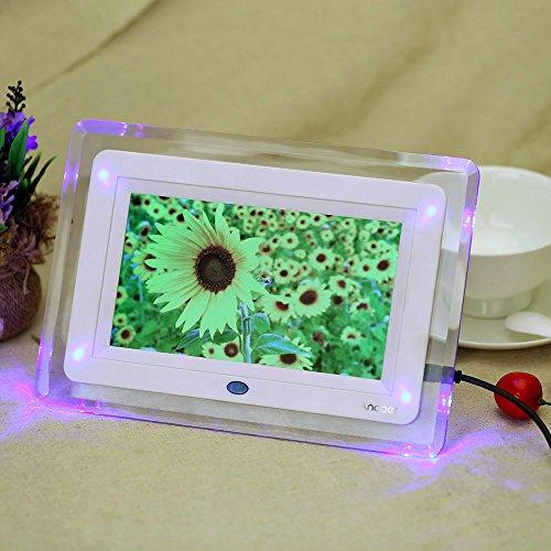 Andoer HD TFT-LCD Digital Photo Bilder Rahmen Wecker Uhr MP3 MP4 Movie Player mit Leuchte
