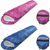 Adtrek Cub Junior Boys & Girls Childrens/Kids Camping Sleeping Bag 2-3 Season, Carry Bag Included