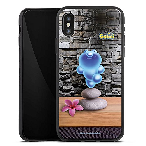 Apple iPhone X Silikon Hülle Case Schutzhülle Gelini Gummibärchen Steine Silikon Case schwarz