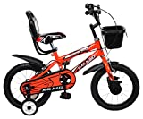 #8: MAD MAXX Steel Kids BMX 14T Road Cycle, 14 inches (Neon Red) For 3 to 5 Years child
