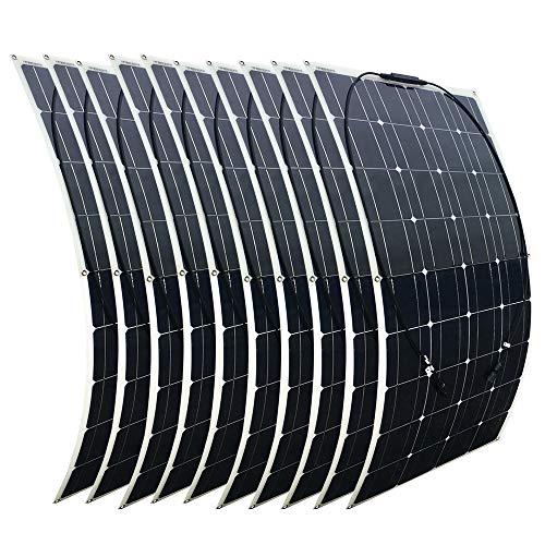 XINPUGUANG 10 pz 100w Pannello solare semi flessibile 1000W sistema solare Modulo fotovoltaico per 12v batteria yacht RV barca auto (10 X 100W)