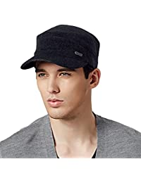 Kenmont Hommes Homme Automne Hiver Laine Cadet militaire casquette de baseball chapeau visière