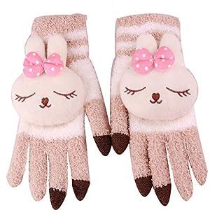 WWF Handschuhe Lady Fashion Cartoon Stereo Dame Nette Persönlichkeit Warm Fünf Finger Touch Handschuhe