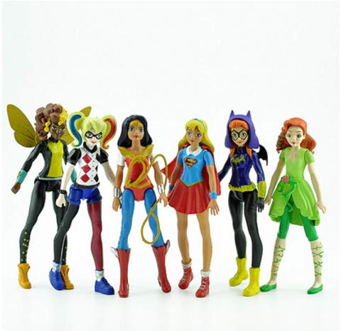 LyGuy DC Super Hero Girls Batgirl Poison Ivy Bumble Bee Harley Quinn Action Figure Toy Doll des  Ragazze Supereroe