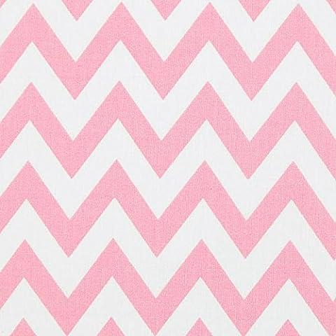 Baumwollstoff, klassisches Chevron, rosa — Meterware ab 0,5 m — Oeko-Tex Standard 100 — Bekleidungsstoff und Dekostoff zum Nähen von Bekleidung, Kissen, Tagesdecken und Tischdekorationen