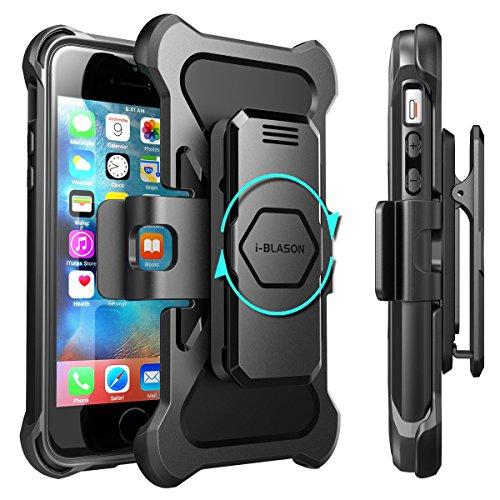 Apple iPhone SE (2016) / 5S / 5 Hülle , i-Blason Prime Serie - 2-Schicht Holster Schutzhülle / Tasche / Gehäuse / Zubehör mit Standhalter, schwenkbaren Gürtelschnalle mit Locking-Mechanismus Blau