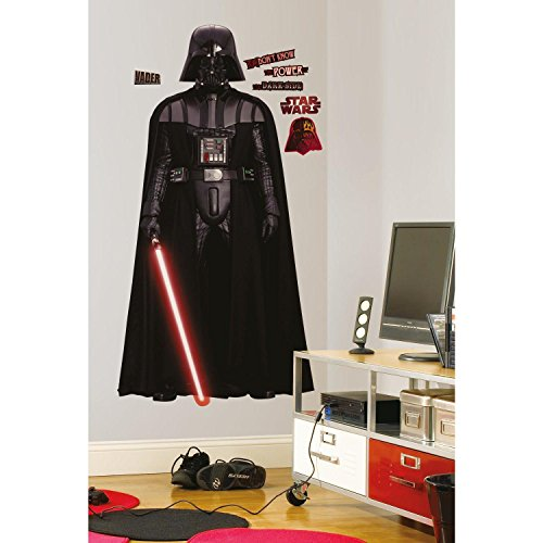 RoomMates RM - Star Wars Darth Vader Wandtattoo, PVC, bunt, 68.5 x 9 x 6.5 cm