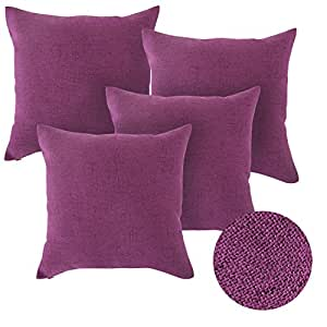 deconovo lot 4 taie d 39 oreiller avec fermeture housse. Black Bedroom Furniture Sets. Home Design Ideas