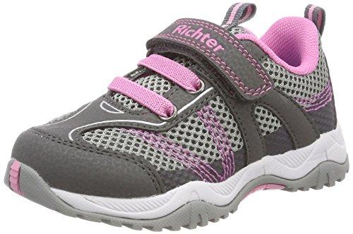 Richter Kinderschuhe Mädchen Future Trekking-& Wanderhalbschuhe, Grau (Ash/Rock/Candy), 25 EU (Candy Schuhe Schuh)