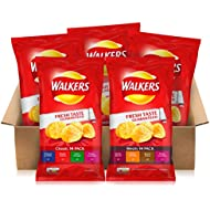 Walkers Potato Crisps Classic and Meaty Variety Pack, 25g (Total 70 Bags)