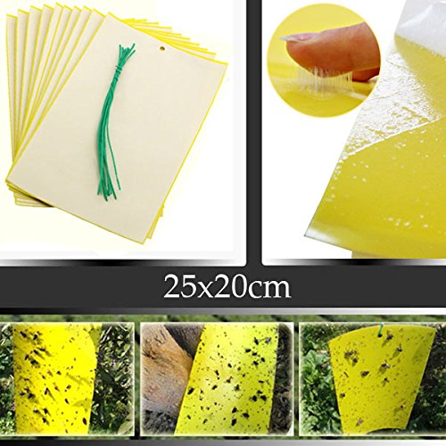 nicehomedo-5pcs-25x20cm-yellow-insect-sticky-trap-whiteflies-aphids-thrips-garden-pest-control-tool