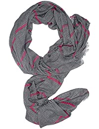 Men Striped Scarf Blanket Wrap Stole Fall Scarves Versatile Mens Accessories (black