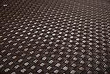 Sellon24 Polyrattan Balkonverkleidung Sichtschutz Balkonsichtschutz anthrazit braun weiß schwarz Kupfer grün Meterware Balkonbespannung 17,49€ / Quadratmeter (H 110cm, RD02 - dunkel braun)