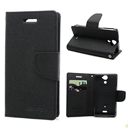 RJR MERCURY GOOSPERY WALLET STYLE FLIP BACK CASE COVER FOR NOKIA/MICROSOFT LUMIA 535-BLACK  available at amazon for Rs.199