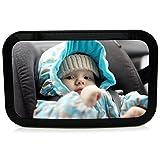Mias Rücksitzspiegel für Babys aus Acryl, Befestigung an Kopfstütze – 2 Jahre Geld-zurück-Garantie – Baby-Spiegel Auto, Rück-Spiegel für Reboarder Kinder-Sitz Sitz-Schalen Baby-Schalen – So haben Sie Ihren Nachwuchs immer sicher im Blick!