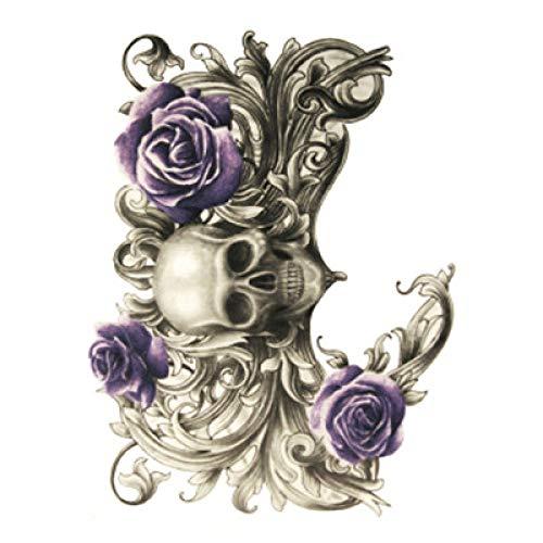 Tzxdbh 5pcs-fashion adesivi braccio tatuaggio fiore adesivi tatuaggio impermeabile durata mezzo braccio realistico 骷髅 adesivi tatuaggio diavolo hb-271 148 * 210mm