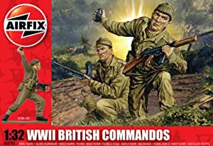 Airfix A02705 British Commandos 1:32 Scale Series 2 Plastic Figures