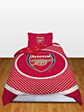 Arsenal FC Bullseye Reversible Duvet Cover Set, Red/White, Single