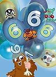 Moshi Monsters 6. Geburtstag Holografische Grußkarte 3D blau–sechsten Geburtstag Boy