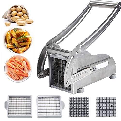 In acciaio inox Potato affettatrice verdura Chopper Cutter dicer Quick patatine fritte Maker