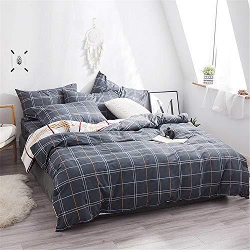 WENXIAOXU Weiche blätter Bett schoner Bezug mit Nässeschutz, Atmungsaktiv, Allergie und Anti Milben,Baumwolle vierteilig C-19 180 * 200 * 30cm