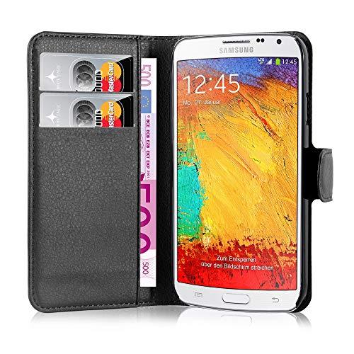 Cadorabo Hülle für Samsung Galaxy Note 3 NEO in Phantom Schwarz