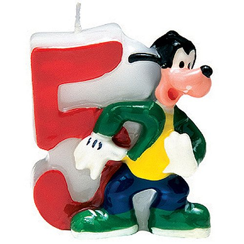 PARTY DISCOUNT ® Zahlenkerze 5 Mickey Mouse, 3D