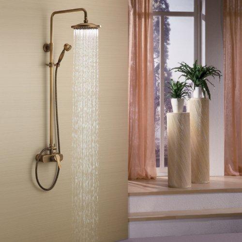 Lightinthebox Messing Antik Badewanne Dusche Wasserhahn mit 8 Zoll Duschkopf + Handbrause...