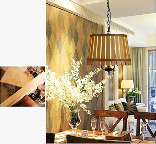 YIZHANGModernen Kreatives und einzigartiges Design Kronleuchter Wohnzimmer Hotel Büro Zimmer LED E27 * 1 Eisen Logs-420 * 500 * 165mm -