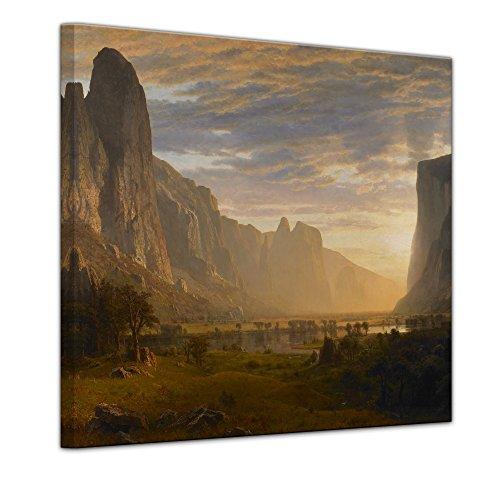 Kunstdruck - Albert Bierstadt - Looking Down Yosemite Valley, California - 40x40cm einteilig - Alte...