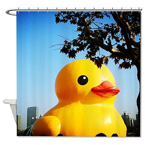 Rioengnakg resistente alla muffa tessuto a Giant Yellow Duck tenda da doccia in poliestere impermeabile tenda della doccia, Poliestere, #1, 72