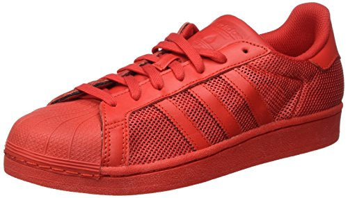 adidas Herren Superstar Sneakers, Rot (Collegiate Red/Collegiate Red/Collegiate Red), 43 1/3 EU